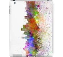 Providence skyline in watercolor background iPad Case/Skin
