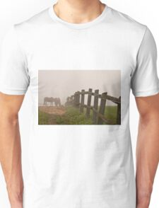 Misty Morning On The Farm Unisex T-Shirt