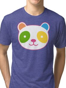 Rainbow Panda Tri-blend T-Shirt