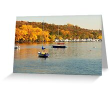Beautiful Autumn on the Saint Croix River Greeting Card