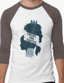 Endure and Survive Men's Baseball ¾ T-Shirt