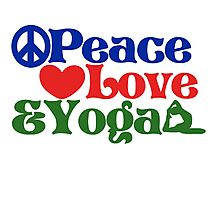 Peace love and yoga Photographic Print
