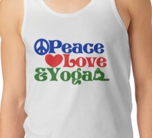 Peace love and yoga Tank Top