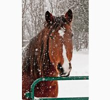 Horse In Snow Storm Unisex T-Shirt