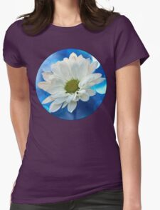 Celebrating Blue & White Womens Fitted T-Shirt