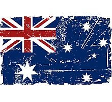Australia Flag - Down Under Photographic Print