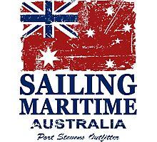 Australia Maritime Flag - Down Under Photographic Print