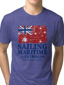 Australia Maritime Flag - Down Under Tri-blend T-Shirt