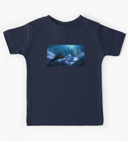 Ships in Space Kids Tee