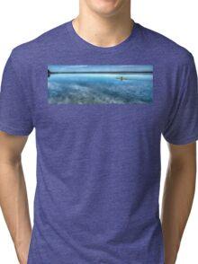Kayaking on Sturgeon Bay Tri-blend T-Shirt