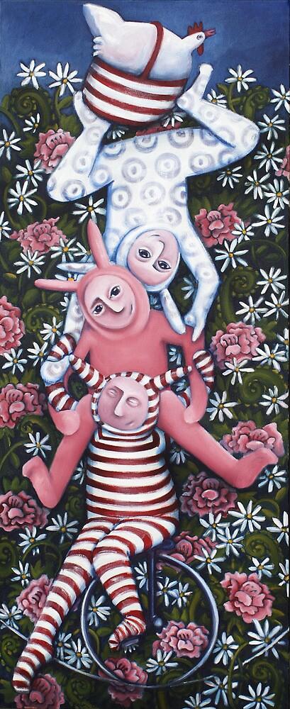 Circus bunnies by Belin