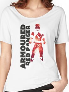 MMPR Armoured Red Print Women's Relaxed Fit T-Shirt