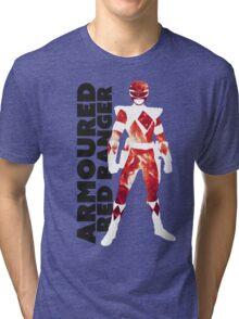 MMPR Armoured Red Print Tri-blend T-Shirt