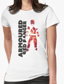 MMPR Armoured Red Print Womens Fitted T-Shirt