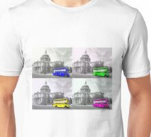 Warhol Style Coloured Routemasters Unisex T-Shirt