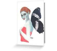 Modesty the Butterfly Lady Greeting Card