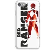 MMPR Red Ranger Print iPhone Case/Skin