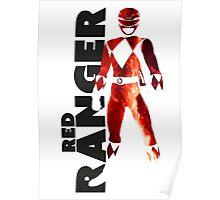 MMPR Red Ranger Print Poster