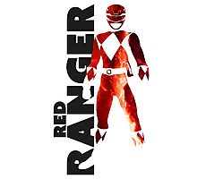 MMPR Red Ranger Print Photographic Print
