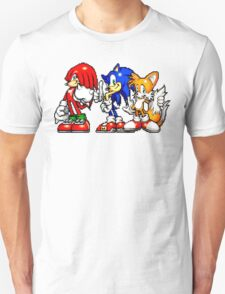 Knuckles,Sonic & Tails Unisex T-Shirt