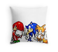 Knuckles,Sonic & Tails Throw Pillow