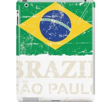 Brazil Flag - Vintage Look iPad Case/Skin