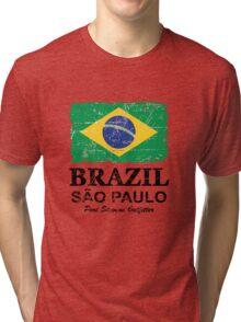 Brazil Flag - Vintage Look Tri-blend T-Shirt