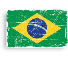 Brazil Flag - Vintage Look Canvas Print