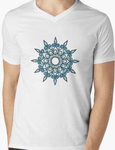 Blue snowflake Mens V-Neck T-Shirt