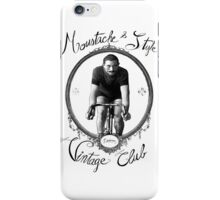 Bicycle & Moustache - Vintage club iPhone Case/Skin