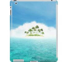 Ocean And Tropical Island With Palms iPad Case/Skin