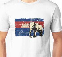 Cambodia Flag - Vintage Look Unisex T-Shirt