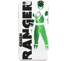 MMPR Green Ranger Print iPhone Case/Skin
