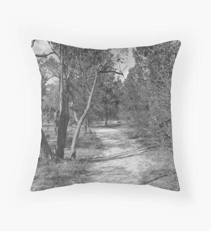 Aussie bush track Throw Pillow