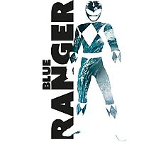 MMPR Blue Ranger Print Photographic Print