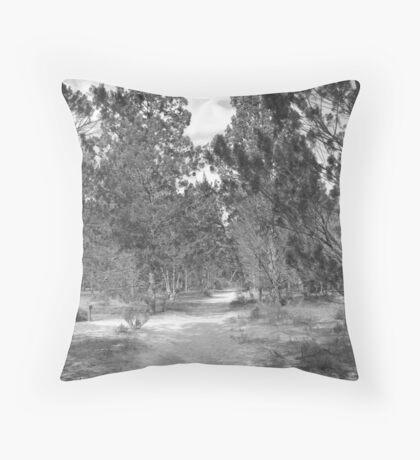 Aussie desert bush track  Throw Pillow