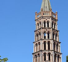 The tower of St Sernin, Toulouse by bubblehex08
