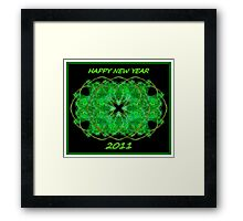 Happy New Year 2011 Framed Print
