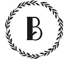 Monogram Wreath - B Photographic Print