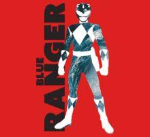 MMPR Blue Ranger Print Kids Tee