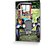 HDR Classic 20s Business Truck Greeting Card