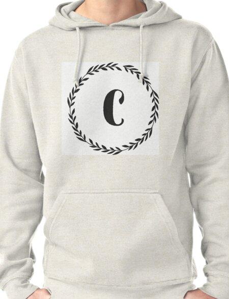 Monogram Wreath - C Pullover Hoodie