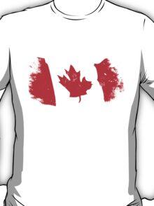 Maple Leaf - Canadian Flag - Vintage Look T-Shirt