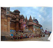 Life at Varanasi Ghat #7 Poster