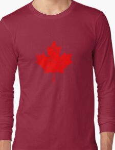 Maple Leaf - Canadian Flag - Vintage Look Long Sleeve T-Shirt