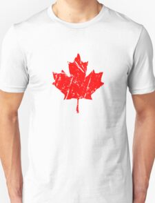 Maple Leaf - Canadian Flag - Vintage Look Unisex T-Shirt