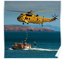 Rescue Practice at Dawlish Airshow Poster