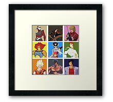 80's heroes Framed Print
