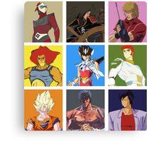 80's heroes Canvas Print