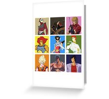 80's heroes Greeting Card